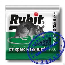 Гранулы от крыс и мышей RUBIT, 100 гр