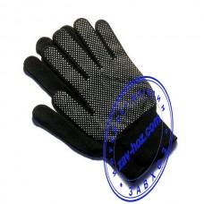 Перчатки стрейчевые с ПВХ точкой