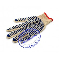 Перчатки х/б с ПВХ полоской