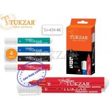 Набор маркеров перманентных TUKZAR FLAGMAN Tz-420-4K