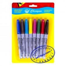 Набор маркеров перманентных CHENYUN, 8 цветов