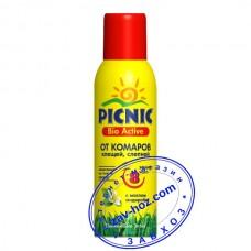 Аэрозоль PICNIC Bio Active от комаров, мошек, слепней, 125 мл