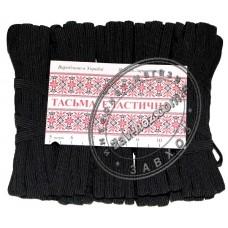 Резинка бельевая ТЕСЬМА ЭЛАСТИЧНАЯ (чёрная) полиэстер 5 м