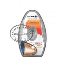 Губка-блеск для обуви SILVER с дозатором
